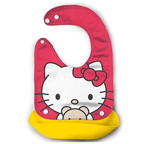 Babero para bebé Hello Kitty en Color Rojo