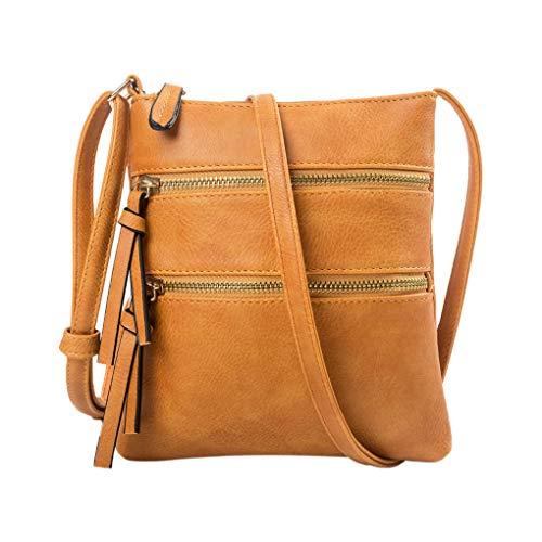 Handy Schultertasche für Damen/Skxinn Mädchen Sportliche Handtasche Umhängetasche Schultertasche aus PU-Leder für Frauen, Wandern, Reisen,Party,Ausverkauf(Gelb)