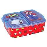 SUPER MARIO   Sandwichera con 3 compartimentos para niños - lonchera infantil - Porta merienda -...
