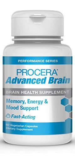 Procera Advanced Brain - 3-in-1 Nootropic Brain Supplement | Memory & Mood Support w/Energy Vitamins | Ashwagandha, Rhodiola, Ginseng, Ginkgo, Phosphatidylserine & Vitamin B Complex | 60 Capsules