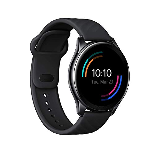 OnePlus Watch Midnight Black: 46mm dial, Warp Charge, 110+ Workout Modes, Smartphone Music,SPO2...