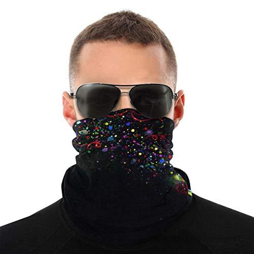 BDGAjdka T-Rex Sparks Rainbow Party Face Face Scarf Seamless Bandanas Multifunctional Headwear For Men Women