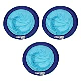 SwimWays 6047195 Water Chair Styled Spring Swimming Pool Float Papasan for Adults with 250 Pound Capacity, Blue (2 Pack)