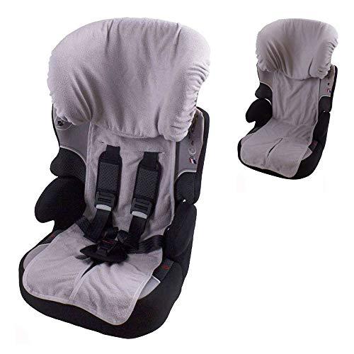 Babysanity Rivestimento copri seggiolino auto 9/36 e 15/36 kg in DOPPIA SPUGNA DI COTONE 100% colore Grigio