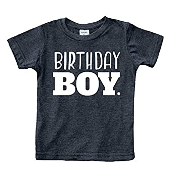 Birthday boy Shirt Toddler Boys Outfit First Happy 2t 3t 4 Year Old 5 Kids 6th  Charcoal Black 12 Months