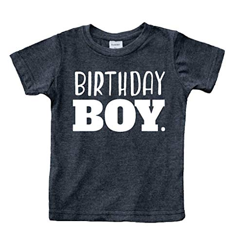 Birthday boy Shirt Toddler Boys Outfit First Happy 2t 3t 4 Year Old 5 Kids 6th (Charcoal Black, 12 Months)