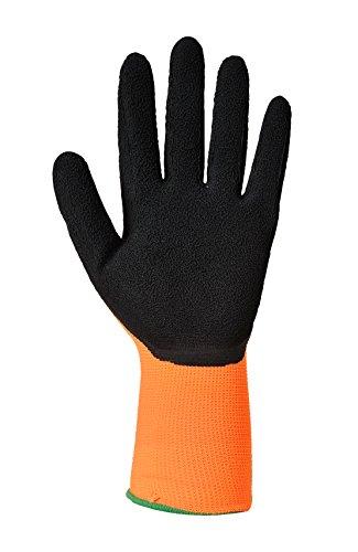 Builders et scafolding, bricolage et jardin Grip Gants haute visibilité, XXL, Orange/Black, 1