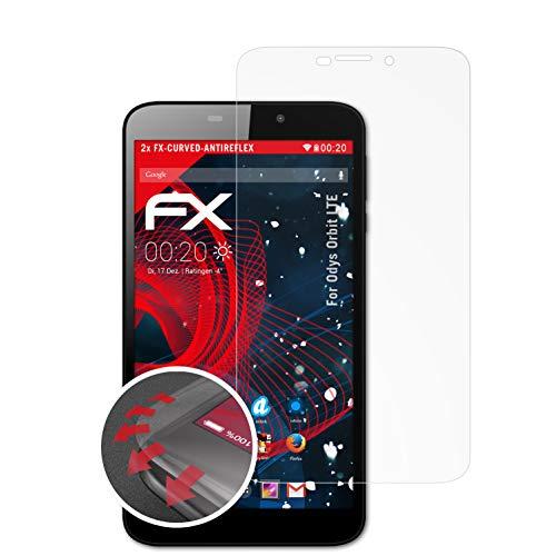 atFolix Schutzfolie kompatibel mit Odys Orbit LTE Folie, entspiegelnde & Flexible FX Bildschirmschutzfolie (2X)