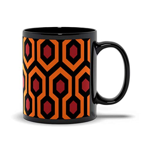 Schwarze Tasse, The Shining Mug, The Shining Carpet Muster, The Overlook Hotel, Stephen King, The Shining, Schwarze Kaffeetasse