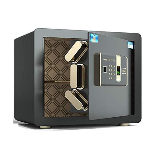 Cajas de seguridad Sistema de alarma inteligente para la oficina en casa Caja de seguridad de archivos Gabinete de joyería en efectivo, Huella digital + Desbloqueo de contraseña (Color: Oro, Tamaño: 4