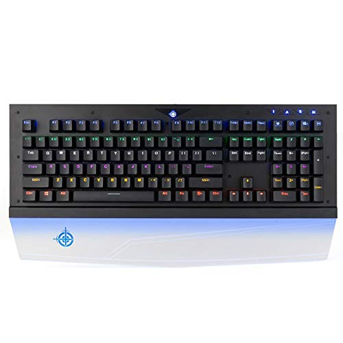 Madeinely Teclado inalámbrico para computadora-teclado mecánico impermeable para juegos