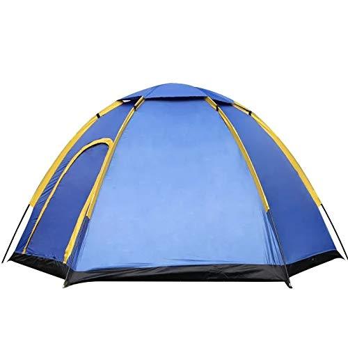 Ianqujiangxinqujianjunbaih Camping Tente avec UV Ombrelle Canopy 3-4 Personnes Tente d'extérieur Camping instantané Pop-up Famille Grand Waterproof