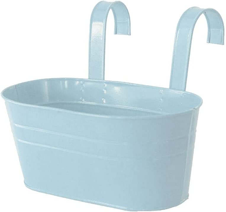 Shiker Balcony Hanging Planters Pot- Metal Fashionable Flower wit Pot Max 55% OFF Bucket