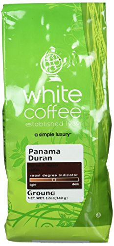 White Coffee Panama Duran Ground Coffee, 12 Ounce