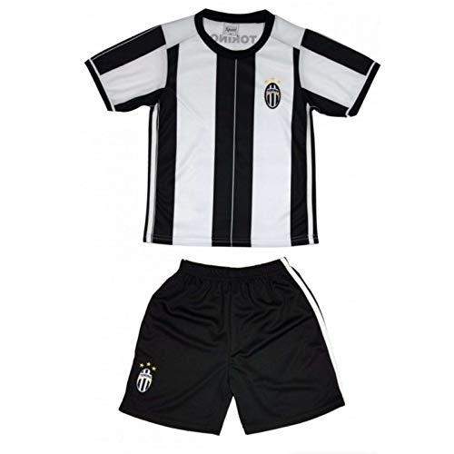 Genérico - Conjunto de camiseta y pantalón corto de turín para niño, color negro