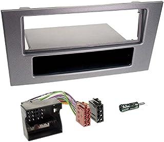 Carmedio Ford Mondeo 03 07 1 DIN Autoradio Einbauset in original Plug&Play Qualität mit Antennenadapter Radioanschlusskabel Zubehör und Radioblende Einbaurahmen dunkelgrau