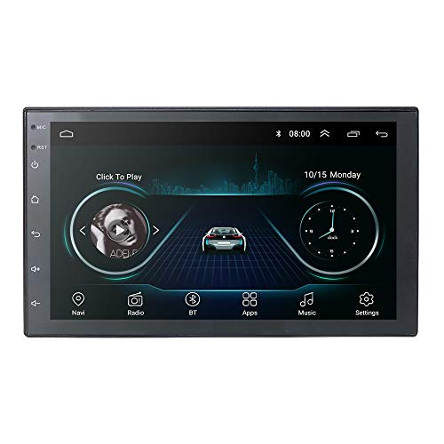 Universal Car GPS Navigation 2 DIN Vehicle FM Player con Android 9.0 OS Pantalla táctil de 7 Pulgadas Compatible con CAM-IN Mirror-Link Bluetooth WiFi 4G USB DVR OBD2 TPMS Dab+