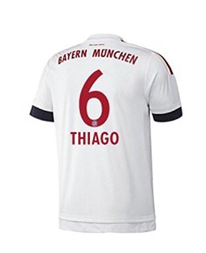 FC Bayern Away Trikot Herren 2016 - THIAGO 6, Größe:XL