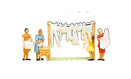 Preiser 14050 - Wäscherinnen Figuren, H0, 4 teile mit Zubehör
