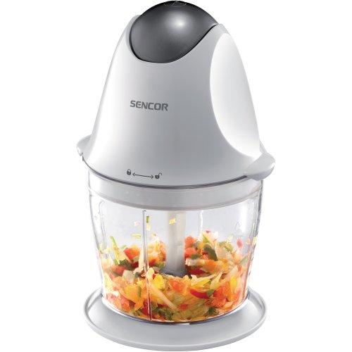 Sencor SHB 4310 Elektrische keukenmachine (350 watt, vleesmolen, multifunctionele keuken-food-chopper voor vlees, groenten, fruit en noten, met hoge/laag) wit