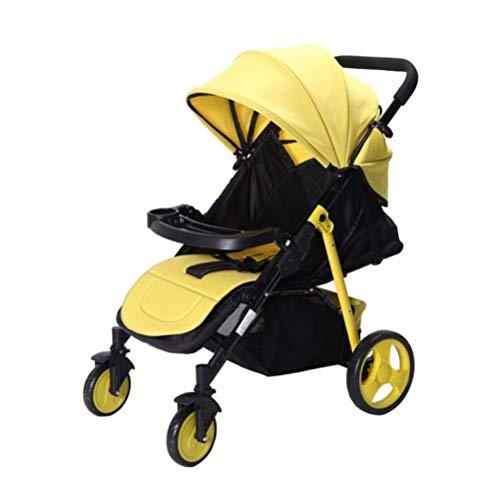 VIVOCC El Carro de bebé del Cochecito Ultraligero Ajustable reclinable Posición Silla de Paseo reclinable Plegable Simple for recién Nacido Nacido Bebé Niños y Niñas