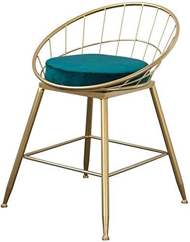 NJ barkruk barkruk van smeedijzer, hoog, kruk, modern, ontbijt, stoel, voetenbankje, ergonomisch, barstools, bistro Pub, eetleuning, keuken, meubels, maat: 45 cm (1 45cm(17.7 Inch)