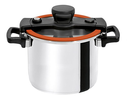 Chef's Design S6O sizzle Stainless Cookware, 6 L/6.3 Qt, Orange