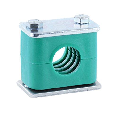 Hydraulikrohrschelle Rohrschelle Schlauchschelle mit Anschweißplatte 50 mm