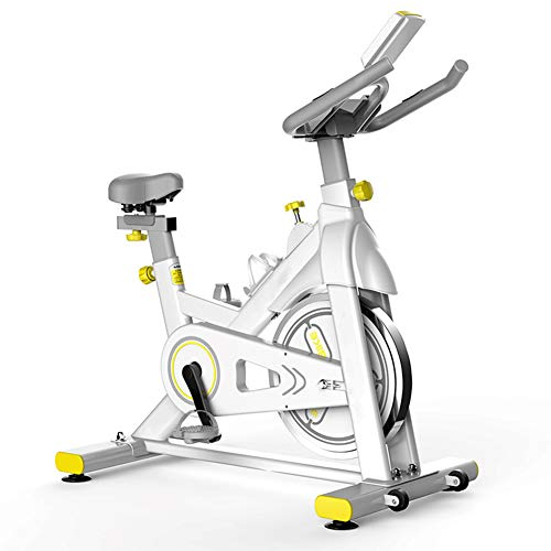 Why Choose Indoor Cycling Bike, Stationary Pedal Bike with LCD Monitor and Hand Pulse Sensors Height...