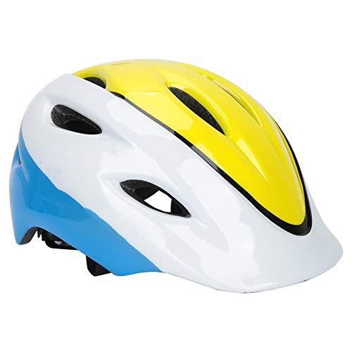Longzhou Kinder fahrradhelm Kinder Fahrradfahrrad Kopfschutz Ausrüstung Kletterrolle Schleudern Sicherer Helmhut(Gelb)