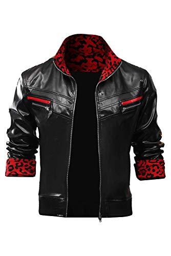 Bilicos Fantasy VII Remake Cosplay Leslie Kyle Leather Jacket Halloween Carnival Cosplay Kostüm Herren L
