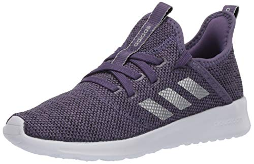 adidas Kid's Cloudfoam Pure Running Shoe, Purple/Matte Silver/Black, 5.5 Medium US