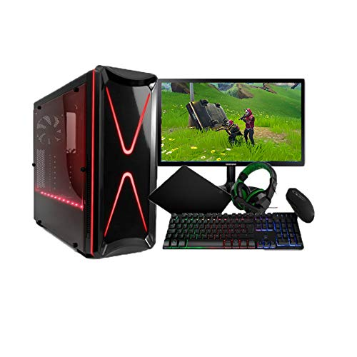 THE GAMINGSTORE: Pack Gaming Completo/PC Gamer/Ordenador Gaming AMD RYZEN 5 2400G 3.9 GHz + G Force 1050TI +Monitor Full HD 22 Pulgadas+ Teclado Y Raton De Regalo