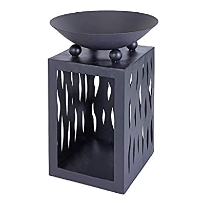 idooka Outdoor Fire Pits for Garden Patio Heater - Metal Fire Bowl Log Burner Built-In Log Store Fire Pit Garden Furniture Wood Burner Bin Fireplace Heaters - with Logs Storage Basket Outdoor Stores from idooka