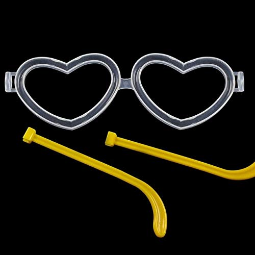 US Warehouse - Glow Party Supplies - 10Pcs Party Fluorescence Light Glow Sticks Bracelets DIY Heart-Shaped Glasses Light Stick Party Bright Colorful Glow Sticks - (Color: 10PCS)