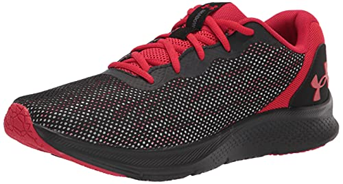 Under Armour Men's Shadow Running Shoe, Black (002)/Red, 10.5