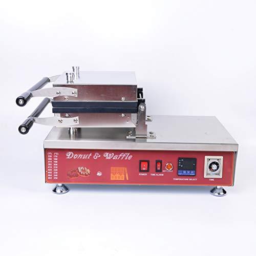 Wotefusi Donut Cake Cooker Maker Iron Machine Heart Flower Pattern Digital Control 110V