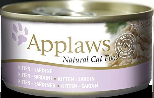 Applaws Katzen Nassfutter in der Dose für Junge Katzen Sardine 24x70 g