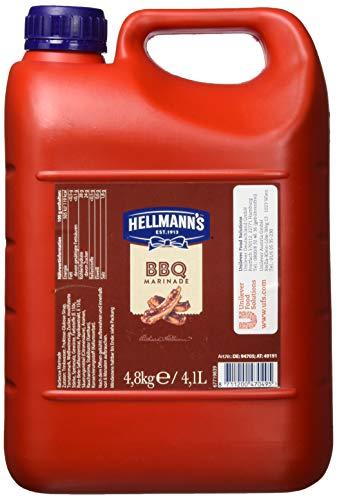 Hellmann's BBQ Marinade (mit typisch süßlichem, rauchigem Geschmack) 1er Pack (1 x 4,8 kg)