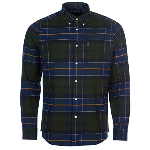 Barbour Herren Hemd Lustleigh Shirt Forest dunkelgrün - XL