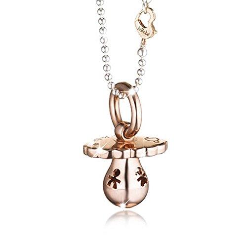 Ciondolo Le Bebè - Suonamore - con catena e sagome traforate in argento 925% e diamante