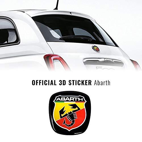 Abarth 21548 - Adhesivo 3D con escudo oficial para Fiat 500