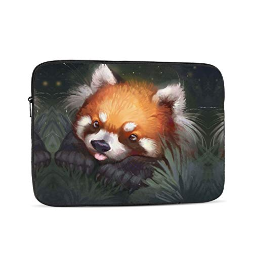 10'' 12'' 13'' 15'' 17'' Red Panda Laptop Shoulder-Bag - Canvas Computer Tablet Protective Carrying Case Notebook Briefcase