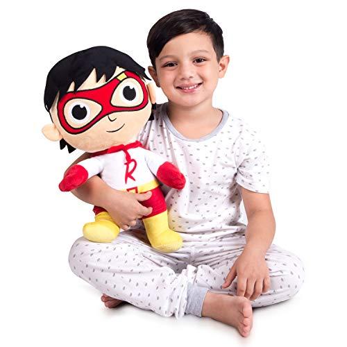 Franco Kids Bedding Super Soft Plush Cuddle Pillow Buddy, One Size, Ryans World Red Titan