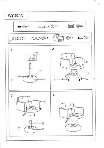 Clubsessel Sessel Kunstleder Creme Esszimmerstuhl Lounge Sessel höhenverstellbar drehbar Duhome 0493 - 8