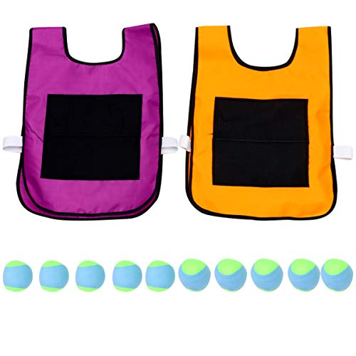 Great Price! NUOBESTY Children Stick Ball Vest Game Set Dodge Ball Sticky Target Ball Vest Outdoor G...