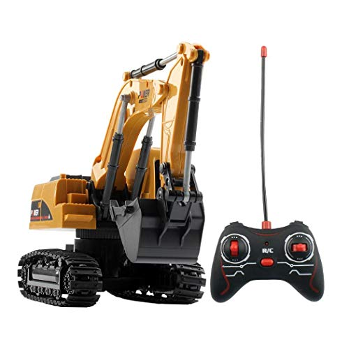 Great Price! Foulon 1:24 Four-Wheel Drive Crawler Excavator Remote Control Educational Toy with Ligh...