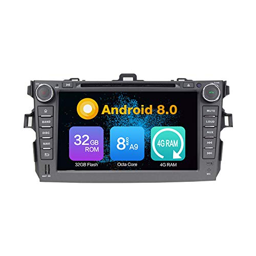 Android 10.0 Stéréo DVD 4G Ram 64G Rom Autoradio GPS La Navigation Radio PourToyota Corolla 2006-2011