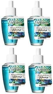 Bath and Body Works Blue Ocean Waves Wallflowers Fragrances Refill. 0.8 Oz. 4 Set.
