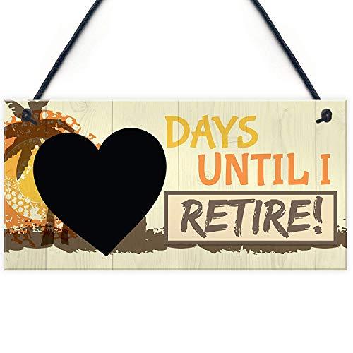 Meijiafei Days Until I Retire Chalkboard Countdown Hanging Plaque Funny Novelty Retirement Gift Sign Grandma Grandad 10' X 5'